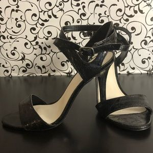 A.N.A. Strappy Textured Ankle Heels Size 5 1/2